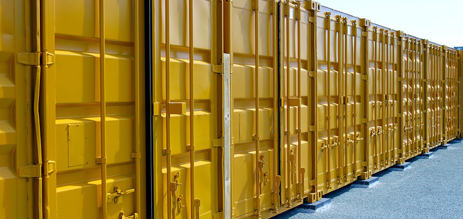Gold container storage units